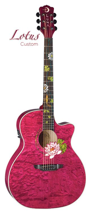 luna guitars - Flora Lotus Custom