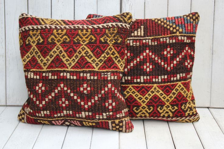 TURKISH KILIM CUSHION SET OF TWO