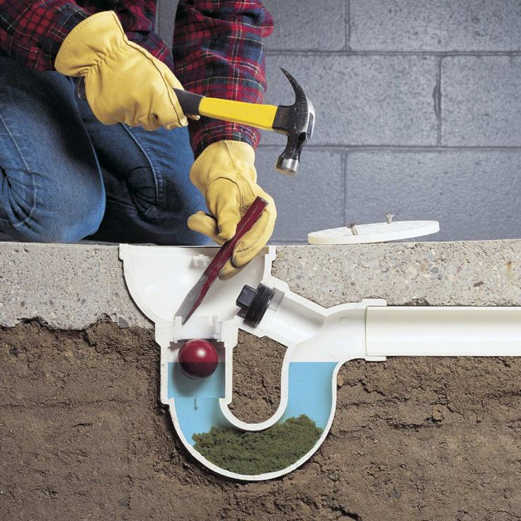 How to Unclog Anything Floor drains, Basement flooring