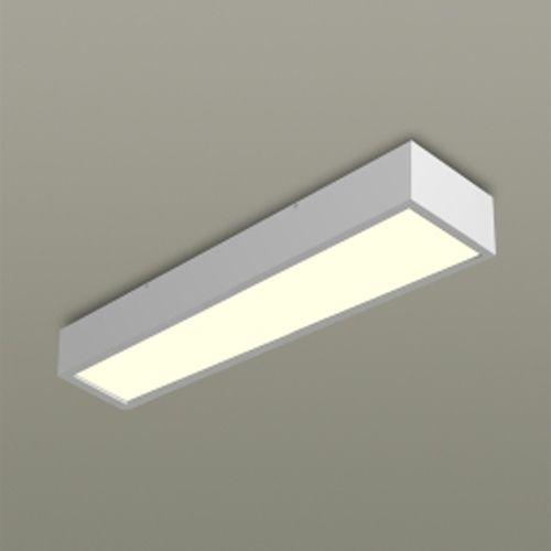 Luminária De Sobrepor Retangular Para 1 Lâmpada