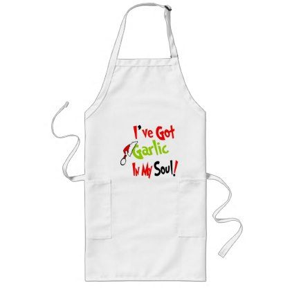 Garlic In My Soul Holiday Chef Party Apron - retro gifts style cyo diy special idea