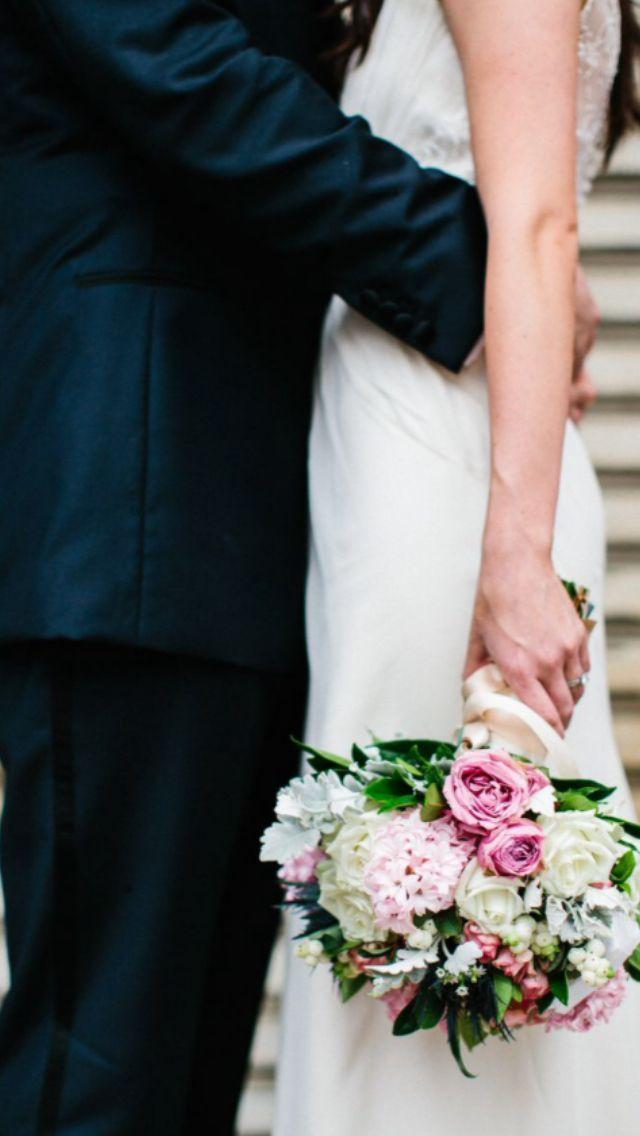 Warehouse wedding- Mirra Brisbane- Julian Beattie- Stylised Brisbane- Pastel flowers- Bridal bouquet- Blush- Lilac- White- blue- Vintage