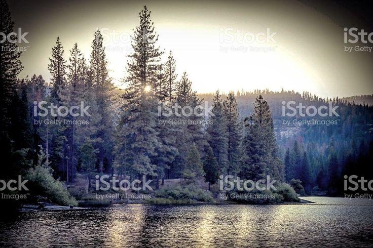 Dusk at Hume Lake royalty-free stock photo
