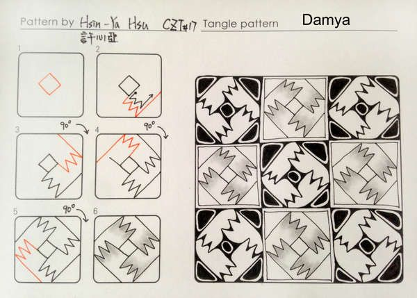 damya tangle pattern