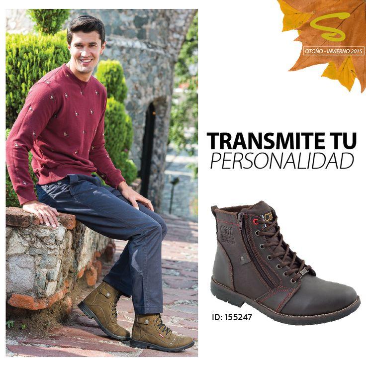 Las work boots son el toque que harán resaltar la personalidad varonil  #Caballeros #otoñoinvierno15  Catálogo en línea: http://goo.gl/dfT8it