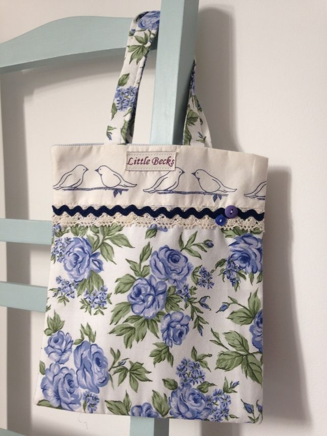 Two Little Dickie Birds Floral Tote Bag £15.00