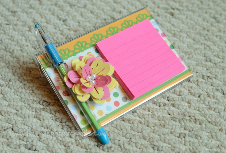 Post-It Stands w/ matching pen--video tutorial
