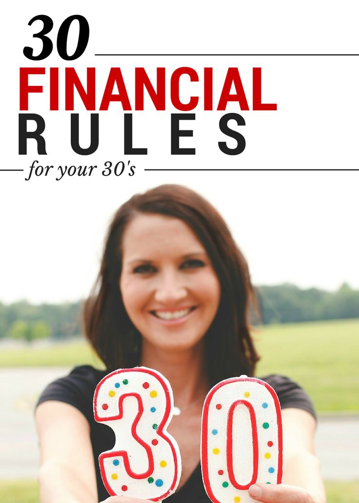 30 Financial Rules for 30 Year-Olds
