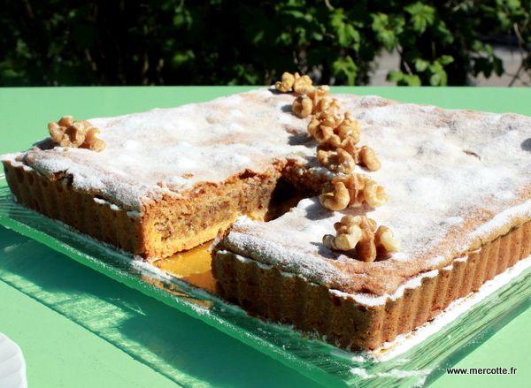 Gateau aux noix une recette de Madame Lasserre de l'hôtel du Centenaire aux Eyzies en Dordogne