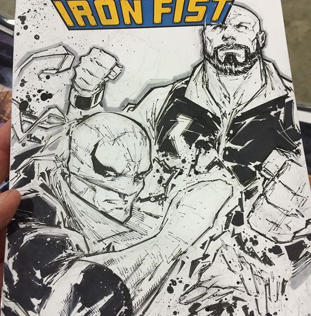 Powerman and Iron Fist commission by Adelso Corona  @floridasupercon booth #400! Hope you dig it :)