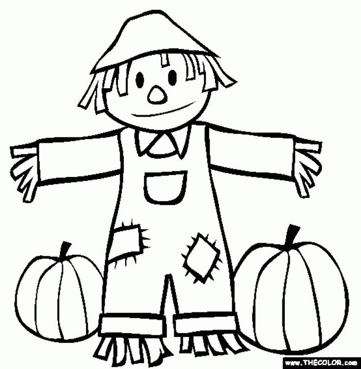 22+ Beautiful Image of Scarecrow Coloring Page | Fall ...