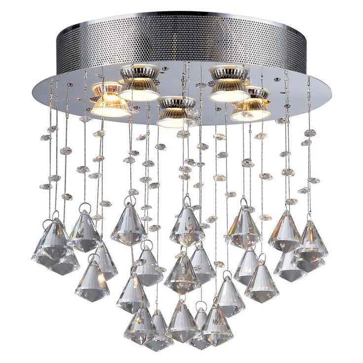 Warehouse Of Tiffany Ceiling Lights - Silver (17 X 17 X 6)
