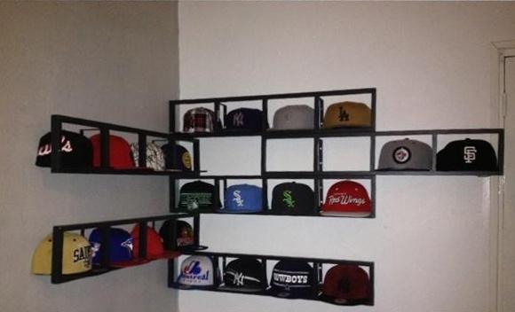 A custom cap wall from New Era fan Yohann D.