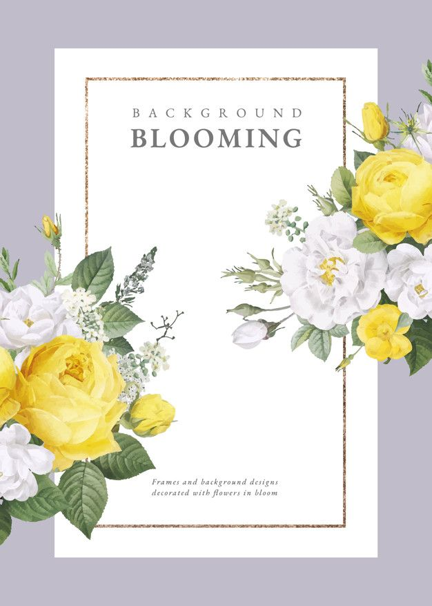 Floral Design Wedding Invitation Free Vector In 2019