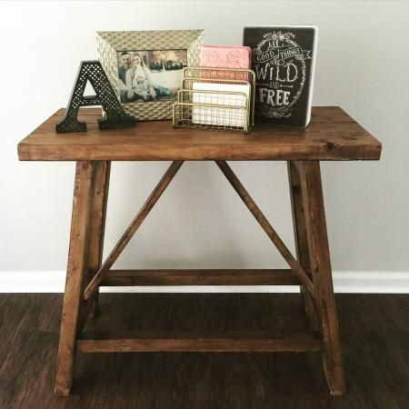 Pottery Barn Inspired Truss End Tables | Do It Yourself Home Projects from Ana White