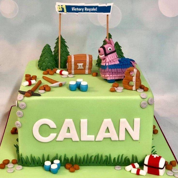 Fortnite birthday cake llama pinata chest v bucks medical