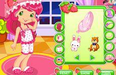 Juegos de Fresita.com - Juego: Buenas Noches Fresita Gratis Online - Rosita Fresita Frutillita Tarta de Fresa