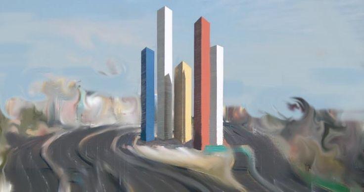 Torres de Satélite por Fernanda Gracida