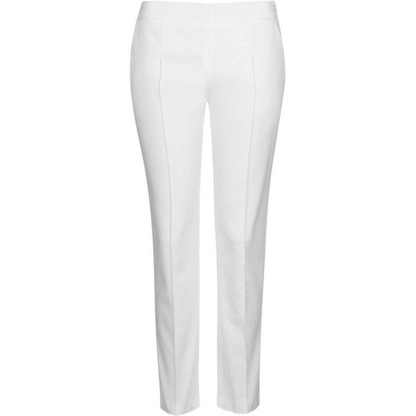 Tailored Cigarette Trousers by Rare (12.735 HUF) ❤ liked on Polyvore featuring pants, white, straight leg pants, topshop pants, tailored trousers, topshop and cigarette trousers