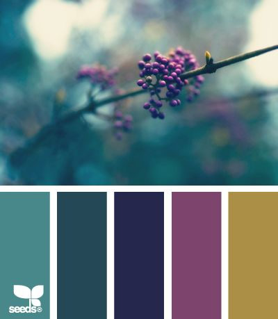 nature hues - a way to bring in mauve/purples that are trending for 2014