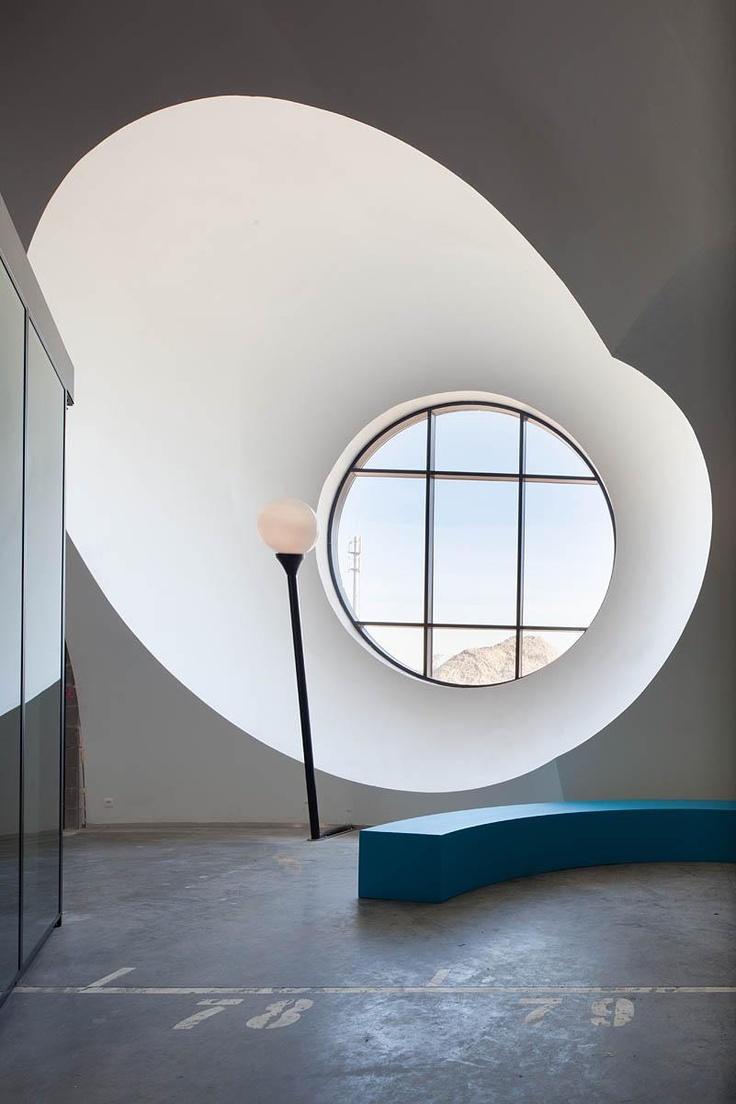 Carlos Arroyo, ajuntament i centre cívic: Mountain View, Attic Window, Cities Hall, Round Window, Interiors Architecture, Interiors Design, Home Decor, Carlo Arroyo, Window Seats