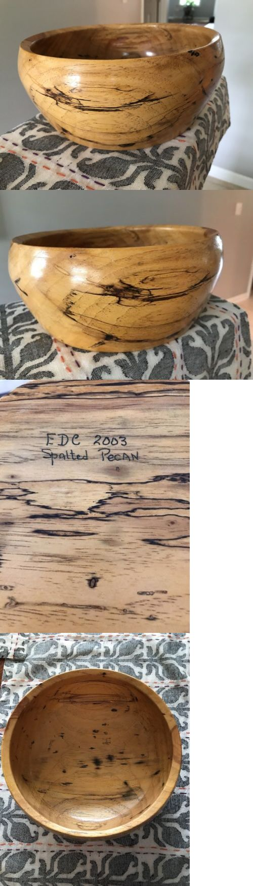 Wood Items 108866: Spalted Pecan Wood Hand Turned Bowl By Edc 2003 8 D X 4 H -> BUY IT NOW ONLY: $85 on eBay!