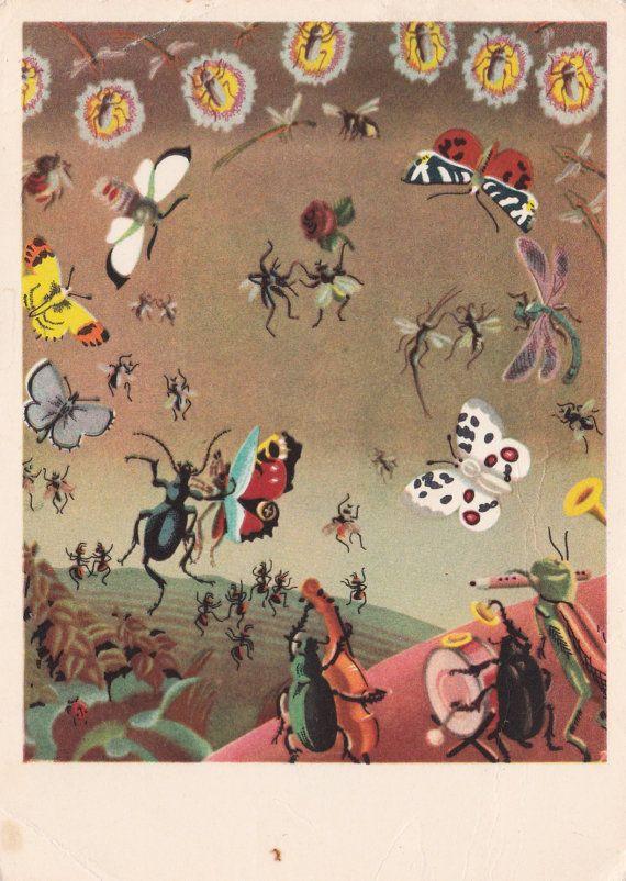 """Kornei Chukovsky """"Mukha-Tsokotukha"""" Illustration by Vladimir Konashevich (1963)"""