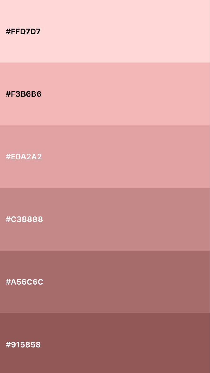 Aesthetic Color Codes : aesthetic, color, codes, 🌹Rosè, Gold🌹, Color, Palette,, Palette, Pink,