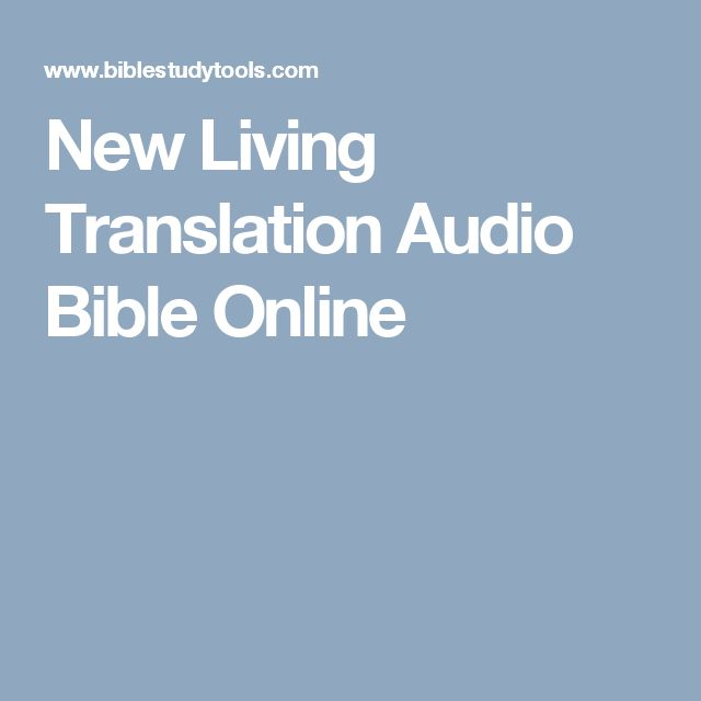New Living Translation Audio Bible Online