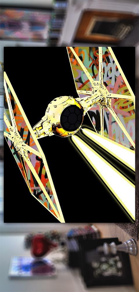Tie fighter Star Wars art Print 23 pieces limited edition