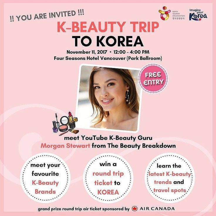 "Fellow #Kbeauty lovers in Vancouver will we be seeing you at @ktocanada's event on Nov. 11?  Repost @ktocanada . Shout out to all #Kbeauty LOVERS in Vancouver  RSVP http://ift.tt/2yL8iG7   Seats are limited!! KTO Toronto office hosts ""K-BEAUTY TRIP TO KOREA"" EVENT in Vancouver on November 11th!!! Come and join us to meet & greet Morgan from @morgansbeautybreakdown her LIVE K-beauty Skincare/Makeup session and learn about the latest #Kbeauty trends and travel hotspots in KOREA!!!  Shop your…"