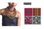 Ankara Knot African Wax Print Colorful Necklace. https://chicafricanna.com/products/2017-african-wax-print-colorful-necklace-ankara-knot-necklace-african-print-fabric-jewelry-for-women-wya086