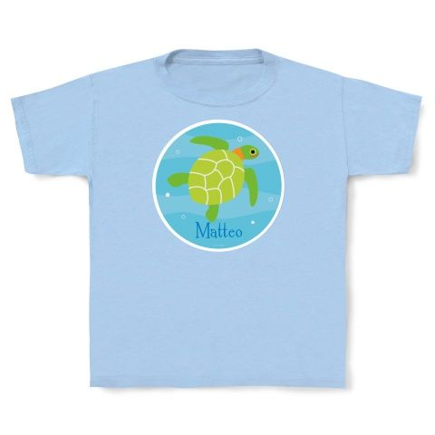 See turtle? Sea turtle! Personalized Turtle T-shirt by Olive Kids!