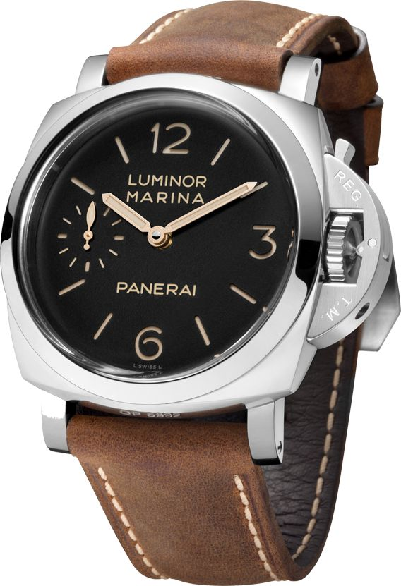 La Cote des Montres : La montre Panerai Luminor Marina 1950 3 days – 47 mm PAM00422 - Une illustration parfaite de l'alliance du design et de la technique incarnée par les montres Panerai