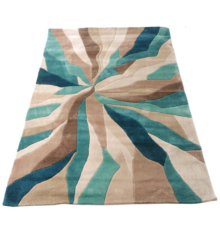 Nebula Rug In Beige Teal Blue And Brown Brown Blue