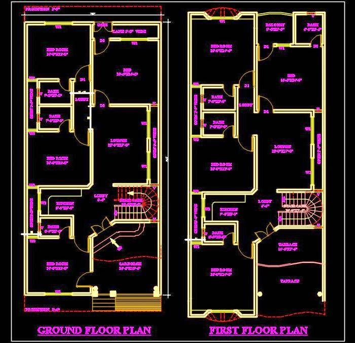 Duplex House 30 X60 Autocad House Plan Drawing Free Download Dwg Duplex House House Plans 2bhk House Plan