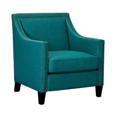 Best Emery Chair Ottoman Teal Picket House Furnishings 400 x 300