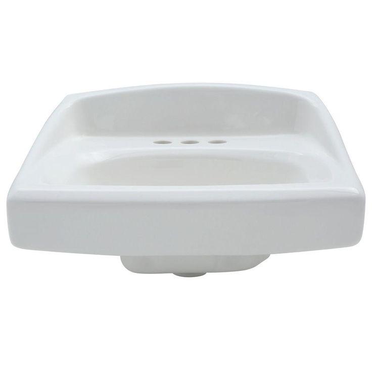 American Standard Lucerne Wall-Mounted Bathroom Sink in White