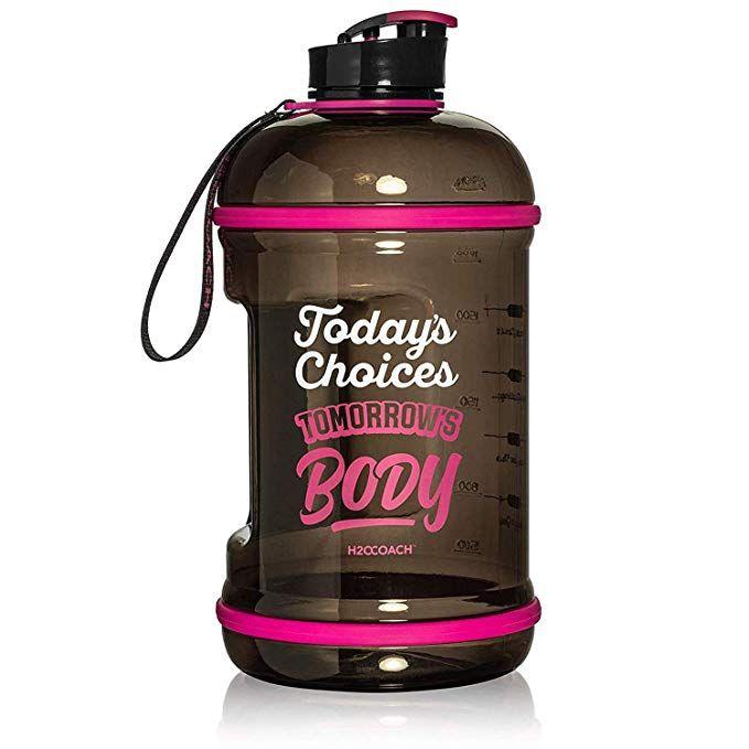 H2ocoach Half Gallon Sports Water Bottle With Time Marker Motivational 2 5 Liter Reus Half Gallon Water Bottle Motivational Water Bottle Gallon Water Bottle