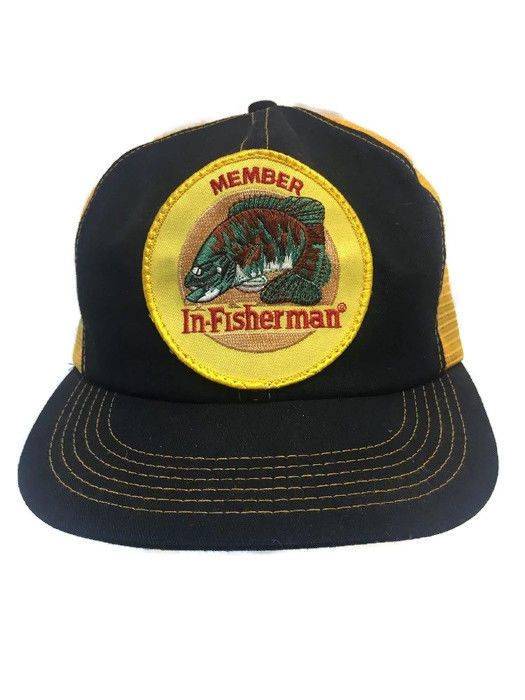 detailed look 8ffe9 397e0 Vintage In-Fisherman Member Snapback Hat Mesh Fishing Logo Cap K Products  USA  KProducts  TruckerHat