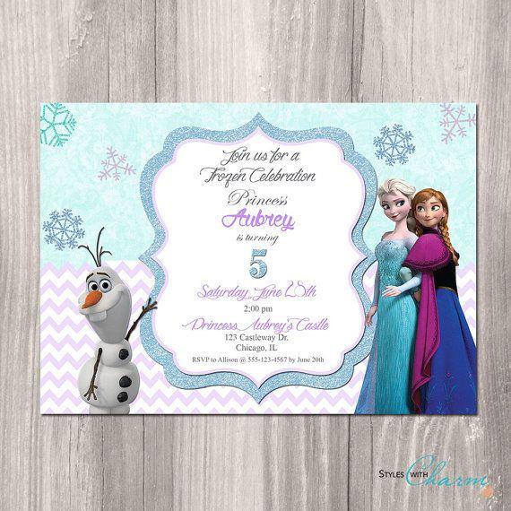 Frozen+Invitation++Frozen+Birthday+Invitation++by+StyleswithCharm,+$12.00