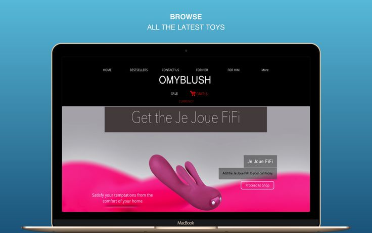 BROWSE ALL THE LATEST ADULT TOYS ON www.omyblush.com