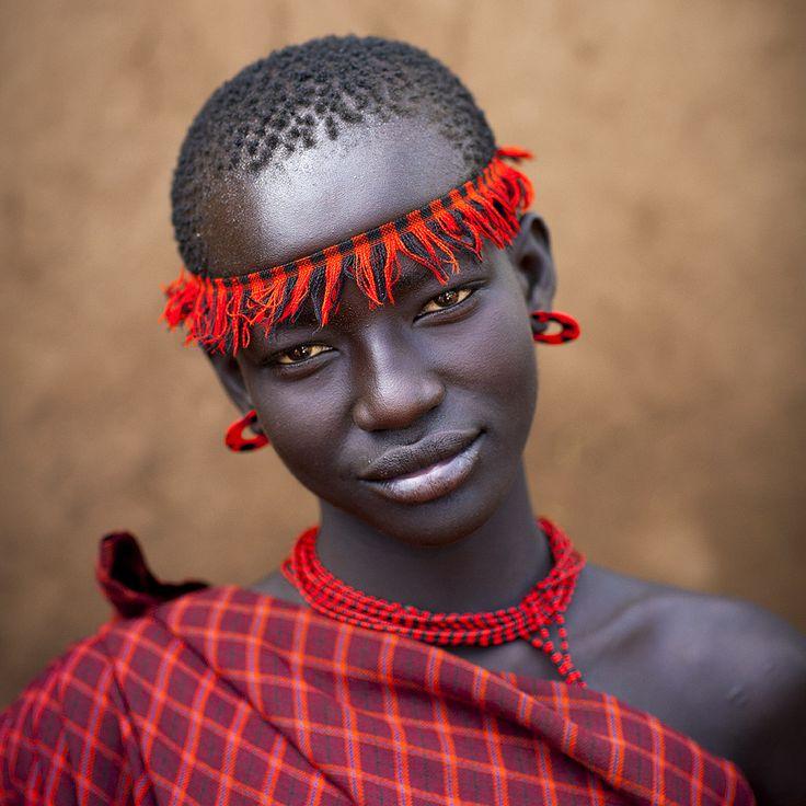 Miss Domoget, Bodi Tribe Woman With Headband, Hana Mursi, Omo Valley, Ethiopia   Flickr - Photo Sharing!
