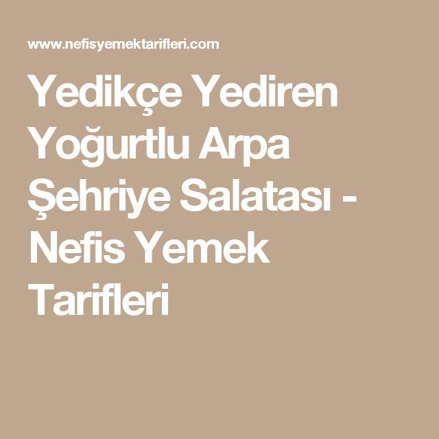 Yedikçe Yediren Yoğurtlu Arpa Şehriye Salatası - Nefis Yemek Tarifleri