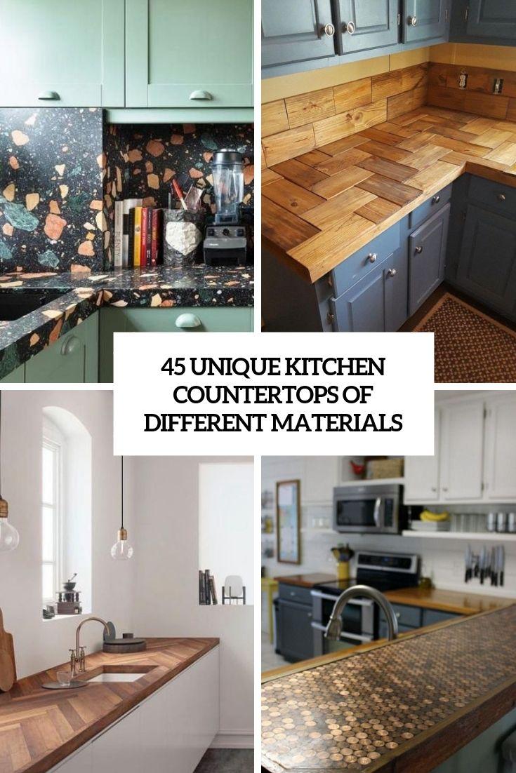 Unique Kitchen Countertops Of Different Materials Cover Kitchen Countertops Unique Kitchen Countertops Sleek Kitchen