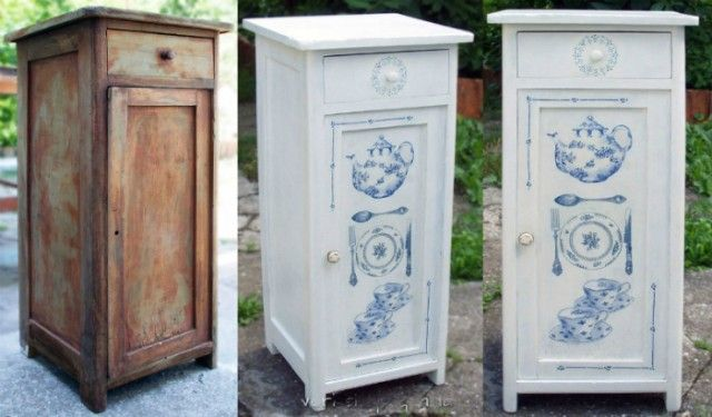 Интересные переделки старой мебели: до и после 7