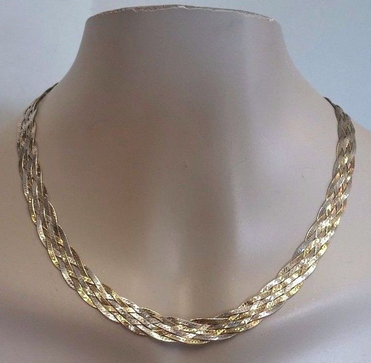 Vintage Italy Made 925 Fas Sterling Silver Amp Gold