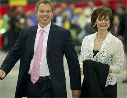 Wife of former British Prime Minister Tony Blair has H1N1 flu