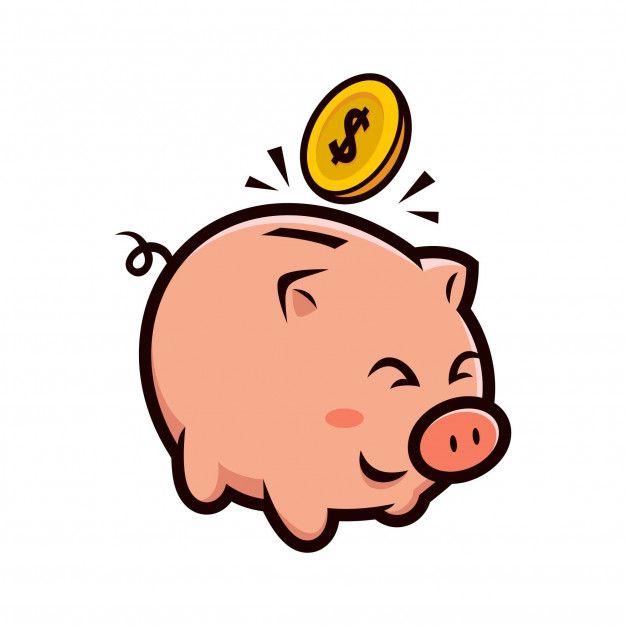 Happy Piggy Bank Mascot Design Mascot Design Cartoon Design Memory Illustration