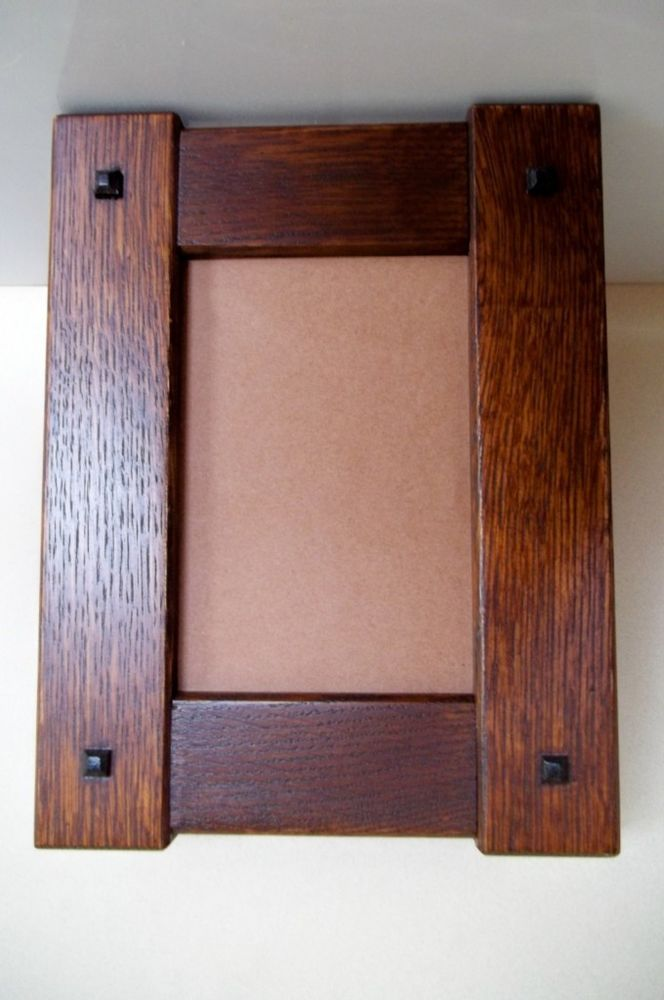 "Arts & Crafts 5"" X 7"" Quartersawn Portriat White Oak Picture Frame Mission Style"